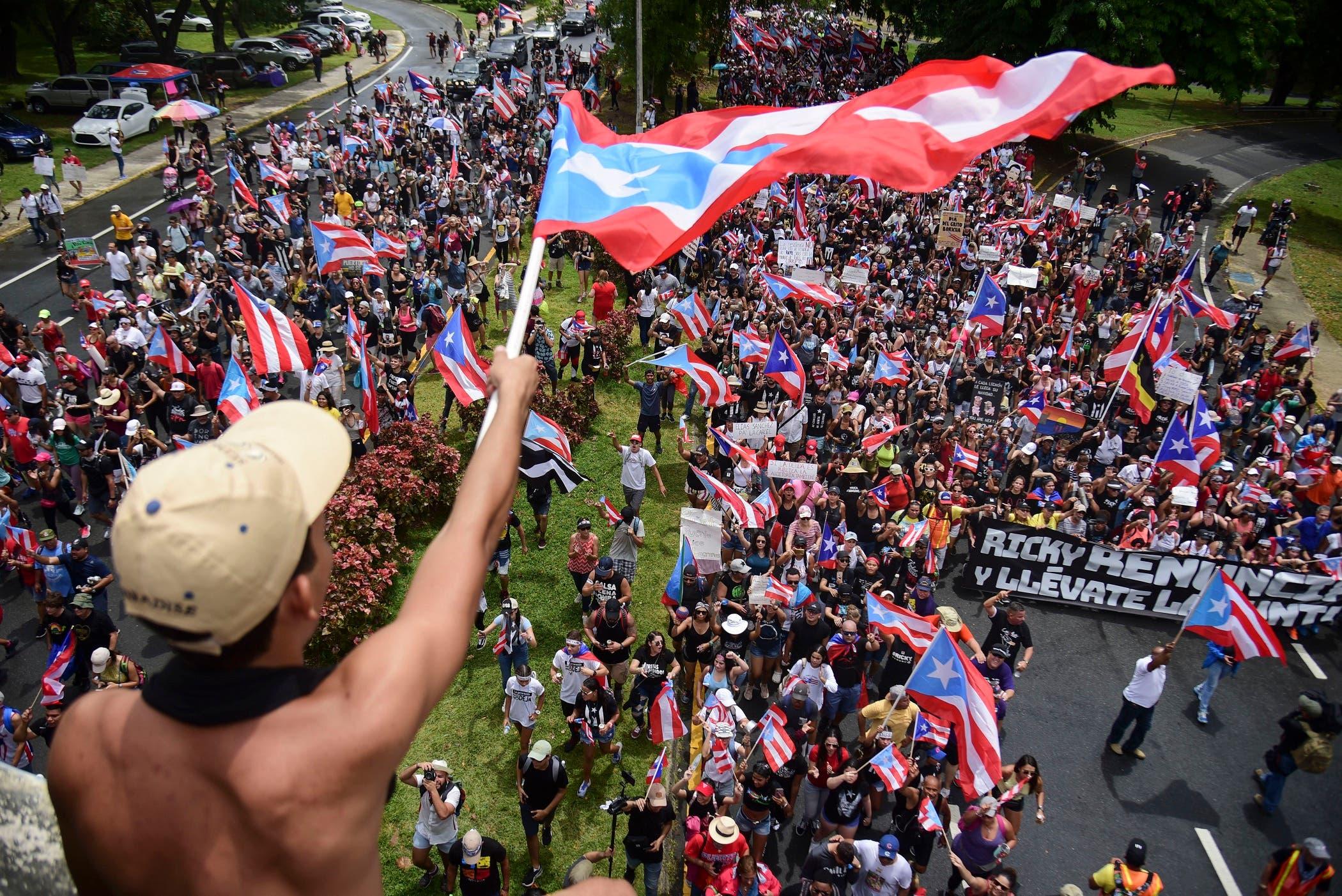 16. La noticia de la renuncia de Rosselló fue motivo de celebración en las calles de Puerto Rico.