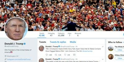 La cuenta @realDonaldTrump tiene más de 60 millones de seguidores.