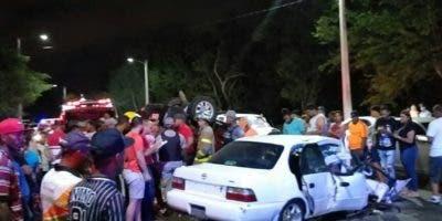 En el accidente resultaron heridas otras cuatro personas.