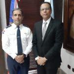 El ministro de Educación, Antonio Peña Mirabal y el director del CESTUR,  general piloto Juan Carlos Torres Robiou.