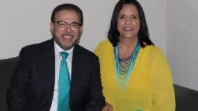 Guillermo Moreno y Minou Tavárez Mirabal.  JOSÉ DE LEÓN