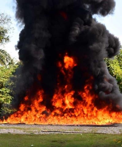 Parte de las drogas quemadas por los organismos.
