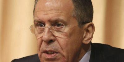 Canciller ruso Serguéi Lavrov.
