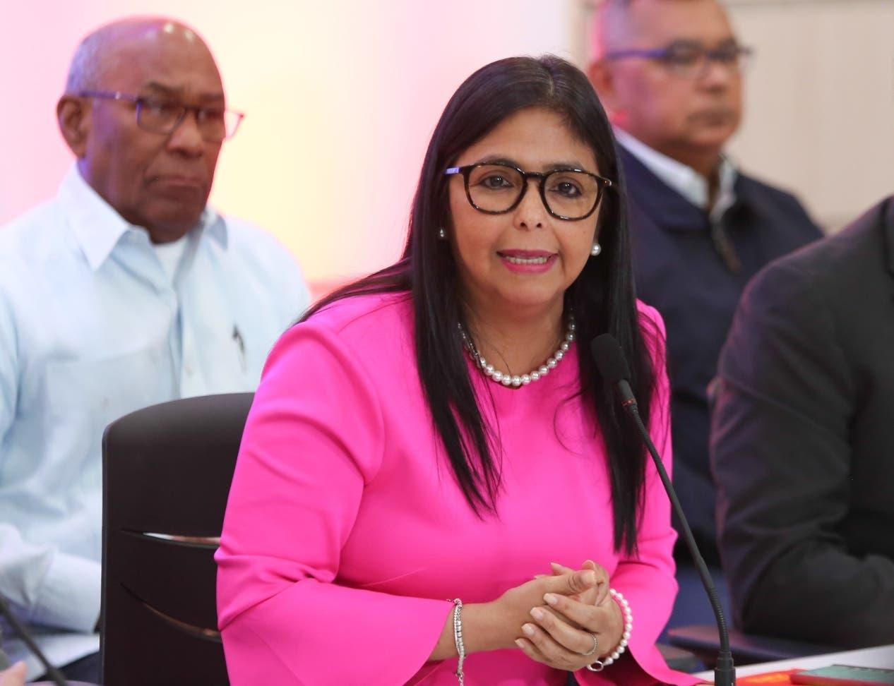 La vicepresidenta venezolana Delcy Rodríguez declaró que Trump  amenaza el orden mundial.