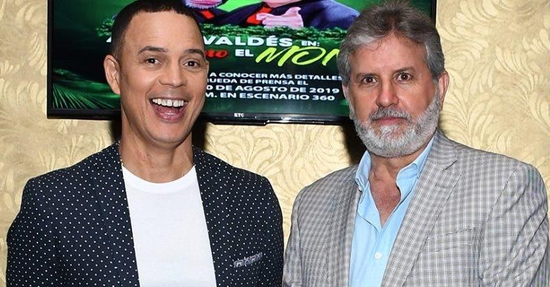 El humorista Alexis Valdez y el empresario Joaquín Geara.