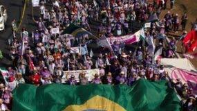 En la manifestación se juntaron campesinas e indígenas.