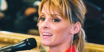 María Dimitrova durante su intervención en el Palacio.