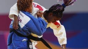 Estefanía Soriano durante su gran presentación de ayer en el judo de los Panam de Lima, donde aportó oro para el país.  AP