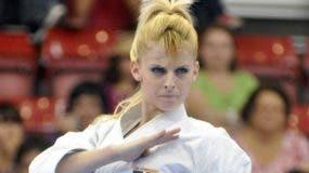 María Dimitrova  y su estilo peculiar, está preparada para luchar por el oro en Lima.  Archivo
