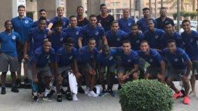 Integrantes de la selección dominicana de fútbol que viajaron  a los intercambios.