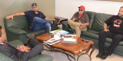 José P. Monegro junto a los dirigentes de Somos Pueblo Eduardo Sánchez, Ricardo Ripoll y José Espaillat Cabral.  GUILLERMO BURGOS