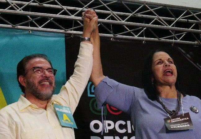 Guillermo Moreno y Minou Tavárez. elieser tapia