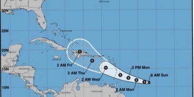 Prevén que Dorian se convierta en huracán el miércoles.