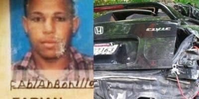 Fabián Bonilla falleció tras chocar la motocicleta que conducía contra un minibús.