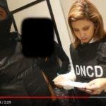La fiscal Rosalba Ramos durante uno de los allanamientos.