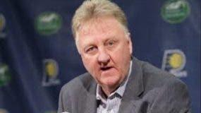 Larry Bird, exastro de los Celtics de Boston.  AP