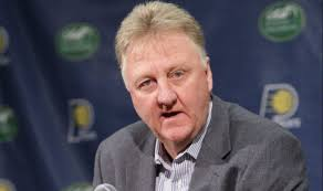 Larry Bird, exastro de los Celtics de Boston.  AP