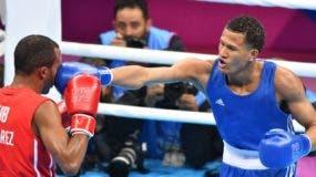 Leonel de los Santos le pega en el rostro al cubano Lázaro Jorge los en Panamericanos. El cubano ganó la pela y se alzó con el oro, mientras que el dominicano obtuvo medalla de plata.