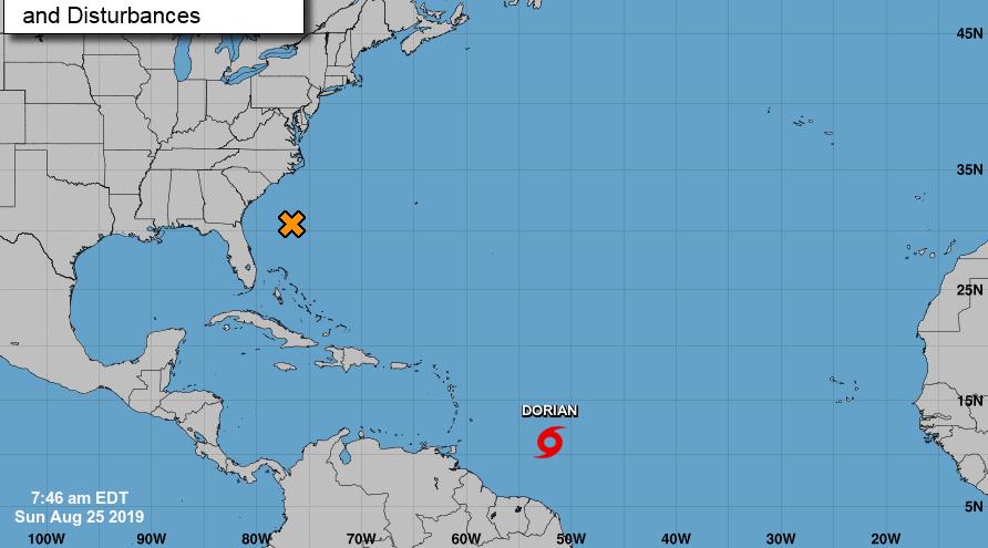 Tormenta tropical Dorian se acerca a las Antillas Menores