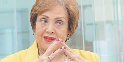 Nélsida Marmolejos,  titular  de la DIDA, al participar de los Coloquios de EL DÍA.  Elieser Tapia