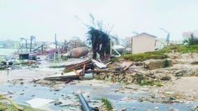 Gran Bahamas quedó inundada al paso del huracán Dorian, y  dejó  daños incalculables.
