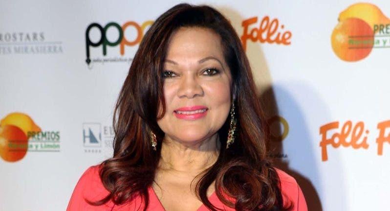 La cantante dominicana Ángela Carrasco.  FUENTE EXTERNA