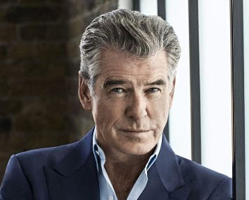 El actor Pierce Brosnan habló en una premier.