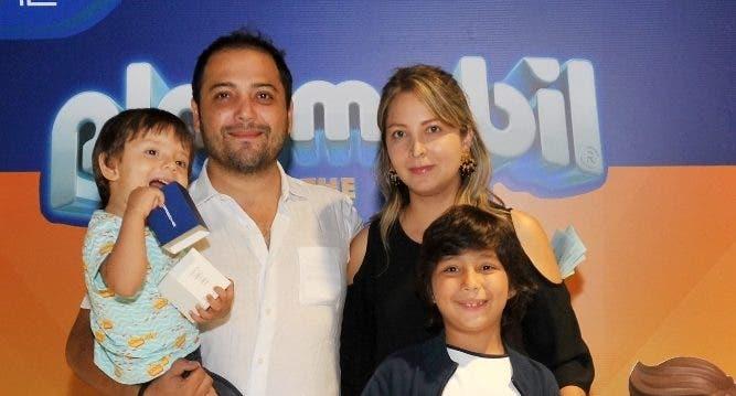 Santiago Giraldo, César Giraldo, Cristóbal Giraldo y María Fernanda Cortés.