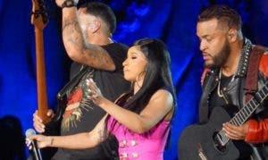 La rapera Cardi B también estuvo apoyando a Romeo.