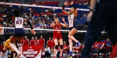 La acción corresponde al partido entre la selección de China y República Dominicana.