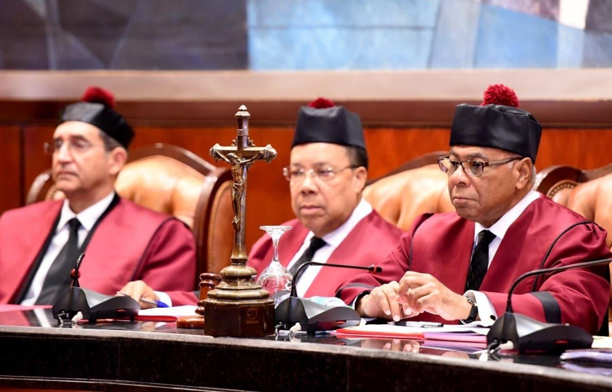 Jueces del Tribunal Constitucional en una de las audiencias. fuente externa