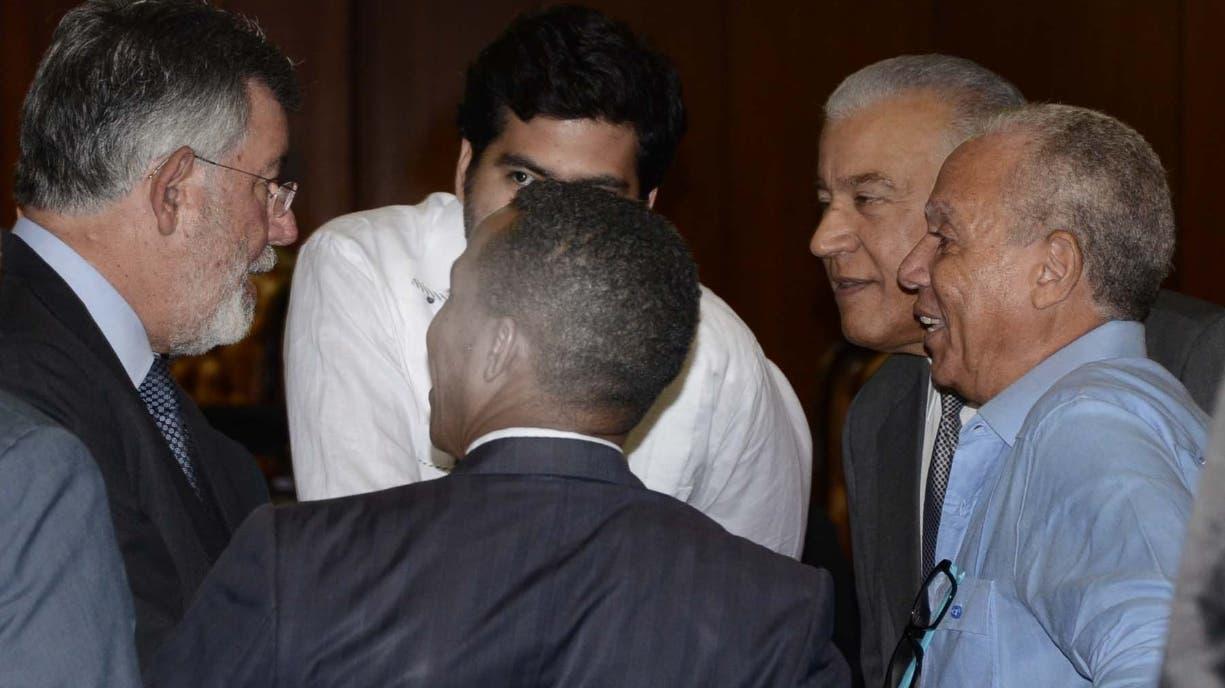 Algunos de los  imputados del caso Odebrecht durante la audiencia preliminar.  Archivo