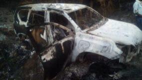 Así quedó el vehículo en el que acribillaron a Karina García.