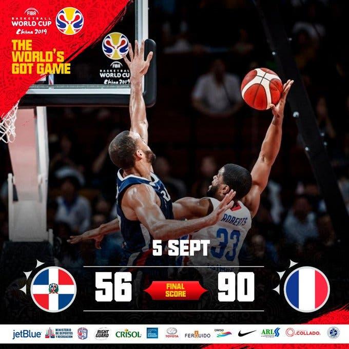 Mundial de Baloncesto: 56-90 República Dominicana sufre el rodillo francés