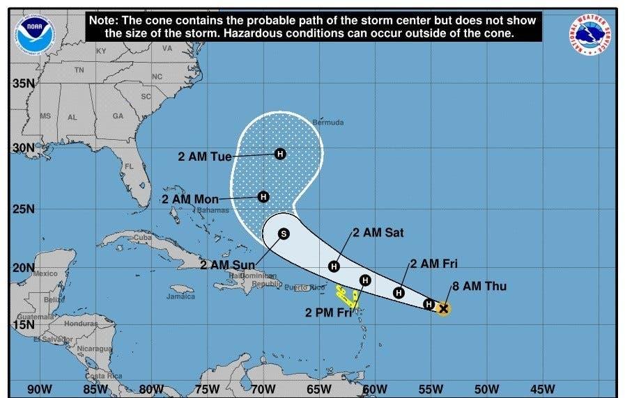 Jerry, cerca de convertirse en huracán mientras Humberto se dirige al noreste