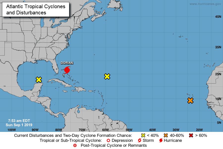 Dorian, ahora como huracán de categoría 5, avanza a Bahamas