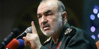 Hosein Salamí, comandante en jefe del cuerpo militar de élite iraní,