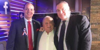 Foto de archivo de Ramfis Trujillo, el doctor Ernesto Fadul y Carlos Jaime Mcfarlane.