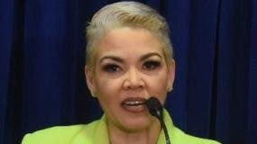 Josefina Capellán, vocera de la DNCD.  Alberto calvo