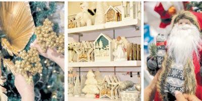 Los  anaqueles de Aliss están provistos de nacimientos y villas navideñas en diversos estilos para decorar los hogares.