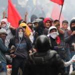 Al frente de las  manifestaciones están las cooperativas de transporte, afectadas por  la eliminación de los subsidios.)