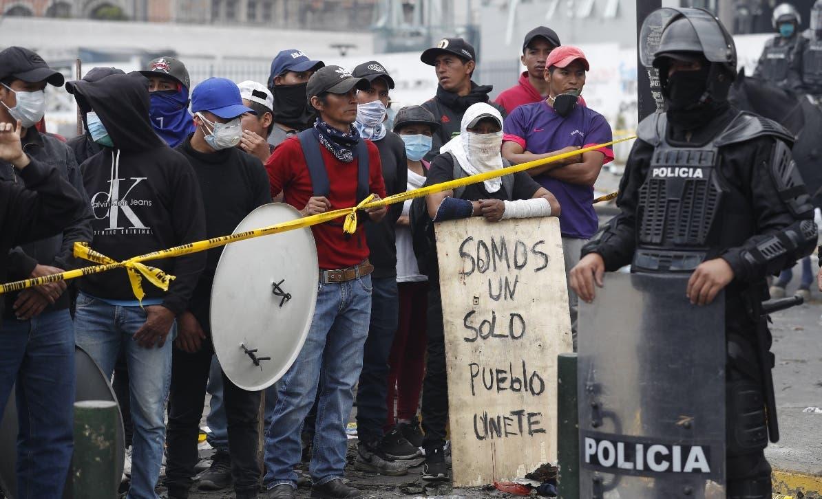 Las protestas se mantienen, independientemente del inicio de las  negociaciones.