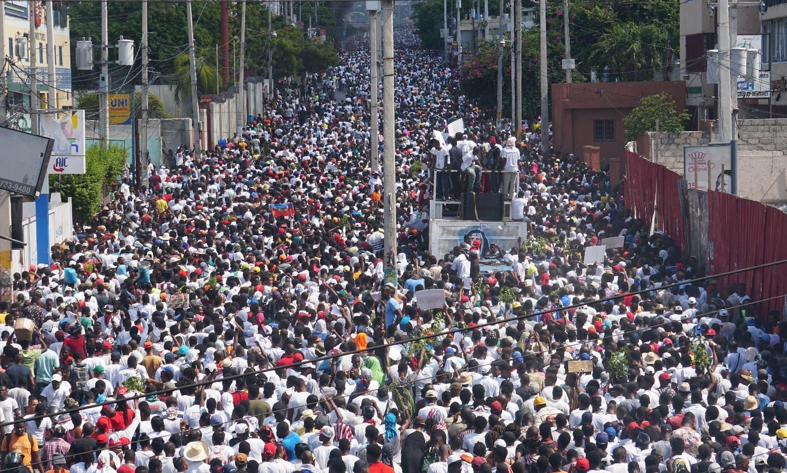 Las manifestaciones empezaron el mes pasado en Haití.