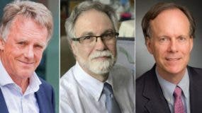 Peter Ratcliffe, Gregg Semenza y William Kaelin.