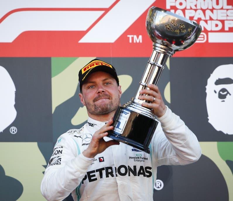 Bottas triunfa en Japón y Mercedes logra sexto título