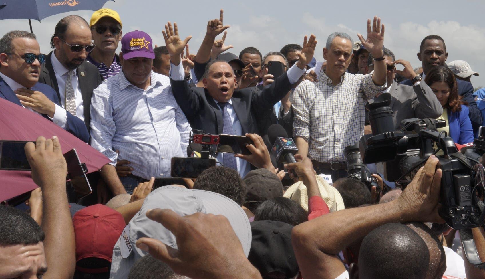 Los leonelistas  anunciaron  nueva   lucha  en defensa de los principios  y  estabilidad democrática.  Elieser Tapia.