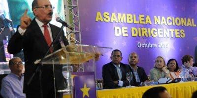 Veinticuatro miembros del Comité Político estuvieron presentes, varios de ellos hablaron previo a Medina.  Nicolás Monegro