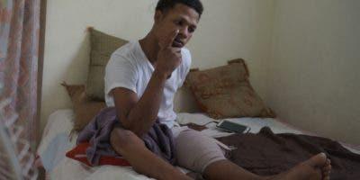 Francisco Berroa Pérez, de 19 años, compartía con amigos en un parque cercano a su casa cuando fue asaltado. Elieser Tapia