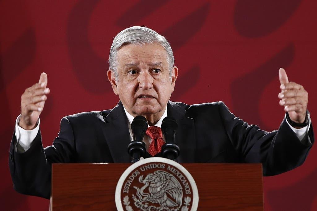 López Obrador reiteró este viernes la necesidad de que España y la Iglesia católica se disculpen por los abusos cometidos en la Conquista. . EFE/José Méndez