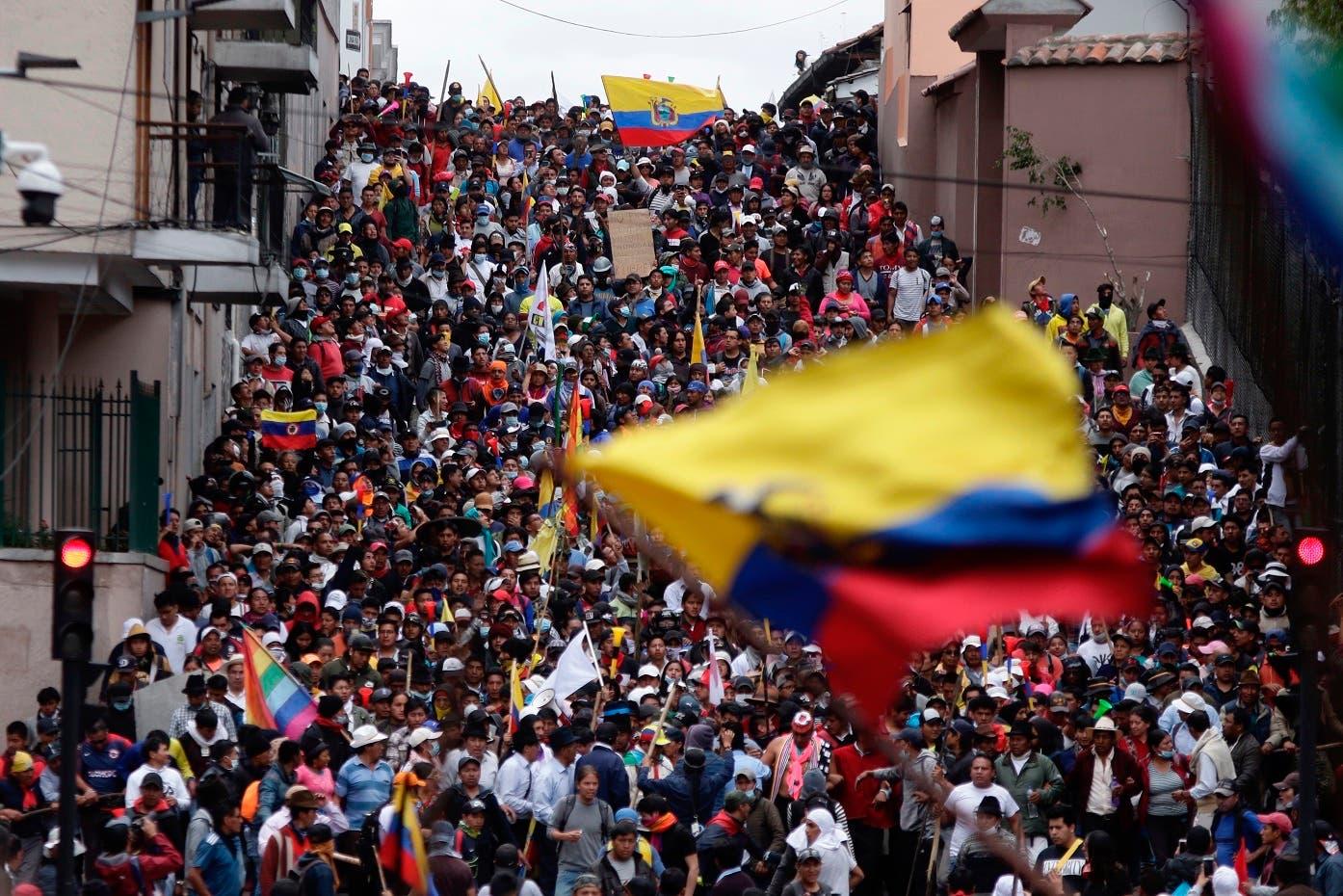 Sindicalistas se suman a protestas en Ecuador
